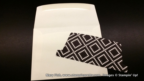 Stampin up stampin' up! stampingup stamping mary fish pretty time to celebrate envelope liner