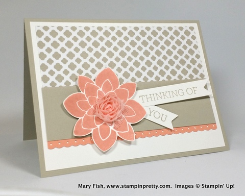 Stampin up stampin' up! stamping up stampinup crazy about you mary fish