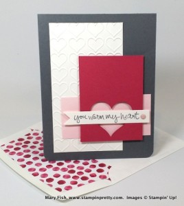 Stampin Up Sheltering Tree Sweetheart Punch Love & Friendship Cards Holiday Cards & Ideas Mary Fish Stampin Pretty Stampinup Demonstrator Blog