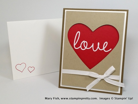 Stampin up stampinup stampin' up! pretty mary fish valentine so you 1