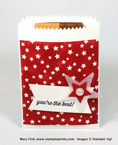 Stampin up stampinup stamping pretty mary fish mini treat bag