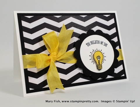 Stampin up stampin' up! stamping stampinup pretty mary fish you brighten my day 1