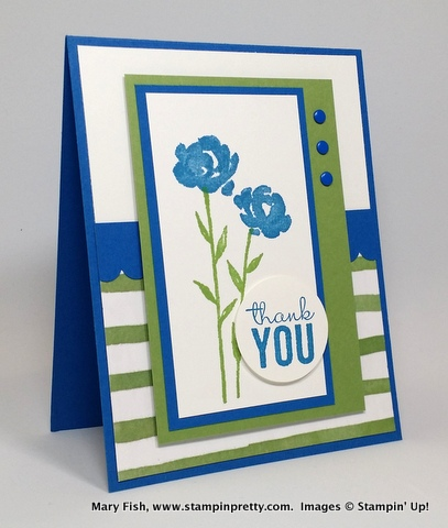 Stampin up stampinup stamping up pretty mary fish painted petals