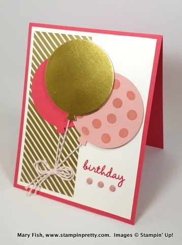 Stampin up stampinup stamping pretty mary fish celebrate today balloon dies