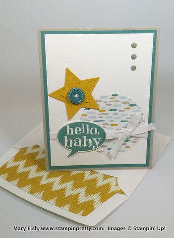 Stampin up stampinup mary fish little sunshine