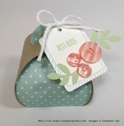 Stampinup stamping pretty mary fish curvy keepsake box 1