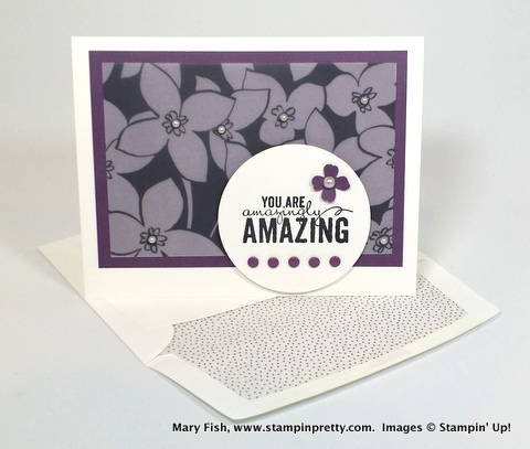 Stampin up stampinup stamping pretty mary fish painted petals