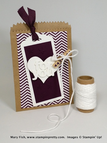 Stampin up stampinup stamping pretty mary fish mini treat bag 2