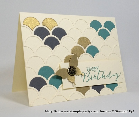Stampin up stampinup mary fish stampin pretty striped scallop die 1