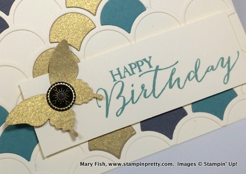 Stampin up stampinup mary fish stampin pretty striped scallop die 3