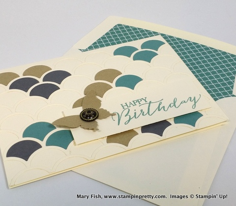 Stampin up stampinup mary fish stampin pretty striped scallop die 4