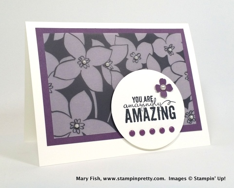 Stampin up stampinup stamping pretty mary fish painted petals 1