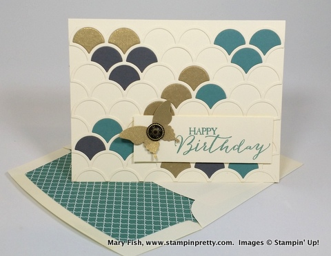 Stampin up stampinup mary fish stampin pretty striped scallop die
