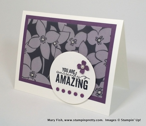 Stampin up stampinup stamping pretty mary fish painted petals 2