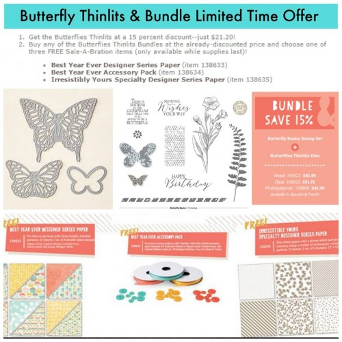 stampin up stampinup butterflies thinlits dies