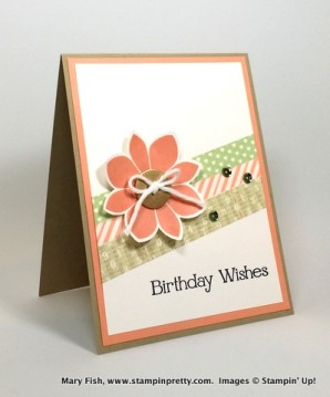 Stampin Up Four You Petal Potpourri Flower Medallion Punch Birthday Card Ideas Mary Fish Stampin Pretty Stampinup Demonstrator Blog
