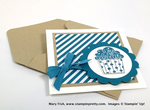 Stampin pretty, mary fish, cupcake party stampin up 1
