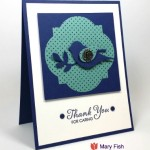 Stampin' Up! Bird Builder Punch Thank You Card