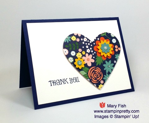 Create a simple thank you card with Stampin' Up! Lots of Thanks