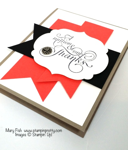stampin up thank you card stampinup million & one