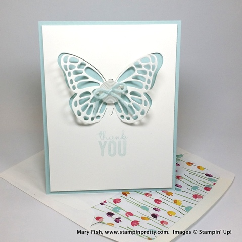 occasions catalog stampin up butterfly dies painted blooms envelope liner