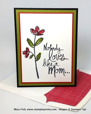 stampin up mothers love for mothers day stamping occasions catalog