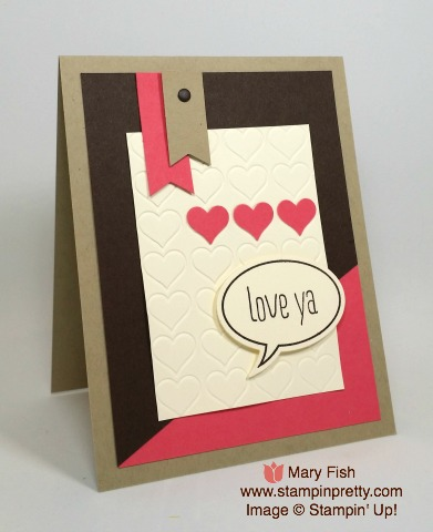 stampin up stamping stampinup just staying word bubbles mary fish