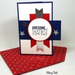 Salute!  Memorial Day Thank You Card!