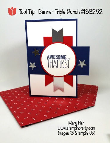 stampin up stampinup stamping stampingup mary fish memorial day thank you card