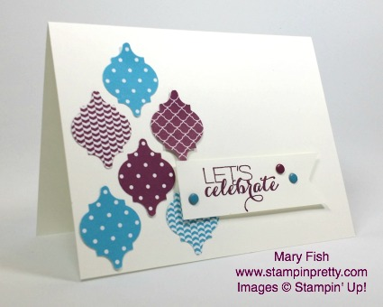 stampinup stampin up stamping pretty mary fish mosaic punch sumthin sumthin