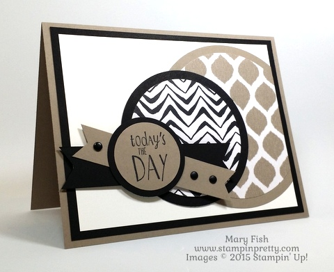 Father's Day Card with Stampin' Up! Go Wild  designed by Mary Fish StampinUp Demonstrator Blog 1