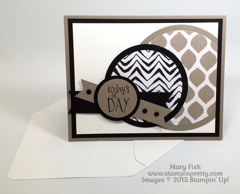 Happy Happenings Fathers Day Card Stampin Up Mary Fish Stamping Pretty envelope punch board