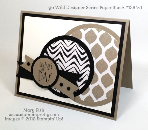 Father's Day Card with Stampin' Up! Go Wild  designed by Mary Fish StampinUp Demonstrator Blog  Pinterest