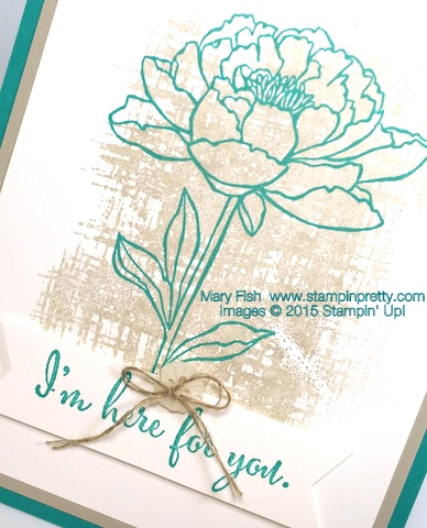 Youve Got This Sympathy Card Stampin Up Mary Fish StampinUp Blog close-up