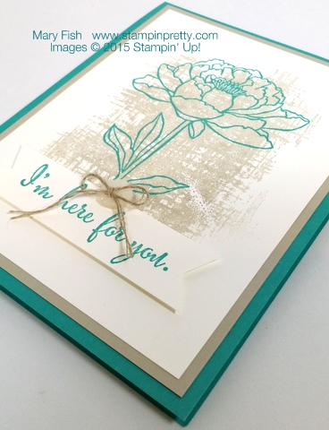 Youve Got This Sympathy Card Stampin Up Mary Fish StampinUp Blog flat