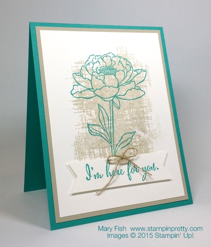 Youve Got This Sympathy Card Stampin Up Mary Fish StampinUp Blog