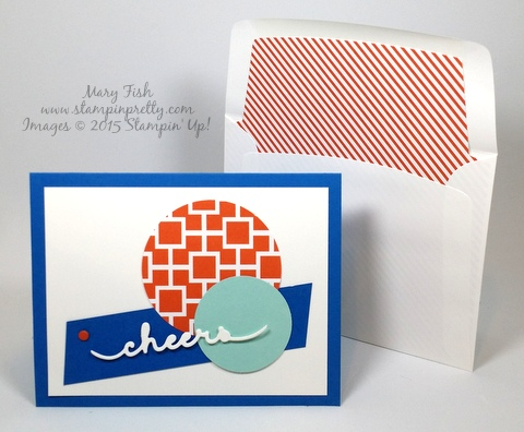 Stampin' Up! Greetings Thinlits Dies congratulations card idea by demonstrator Mary Fish Stampin' Pretty blog