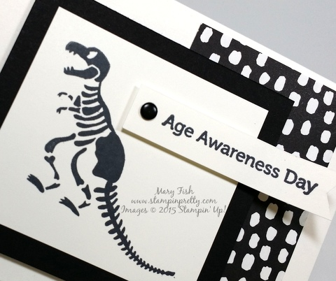 Stampin Up No Bones About It dinosaur birthday card mary fish stamping pretty blog