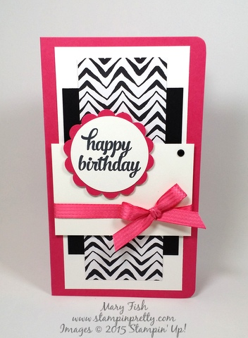 Stampin' Up! Tin of Cards happy birthday card by Mary Fish Stampinup Demonstrator blog