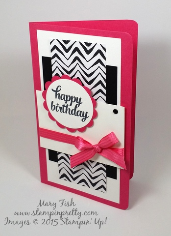 Stampin' Up! Tin of Cards birthday card by Mary Fish Stampinup demonstrator stamping blog