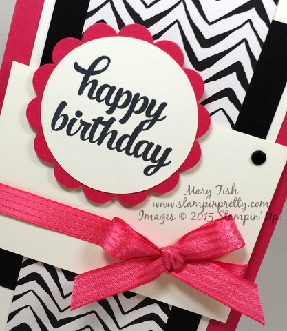 Stampin' Up! Tin of Cards happy birthday card by Mary Fish Stampinup Demonstrator stamping blog