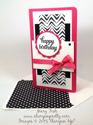 Stampin' Up! Tin of Cards happy birthday card by Mary Fish Stampinup Demonstrator stamping blogs