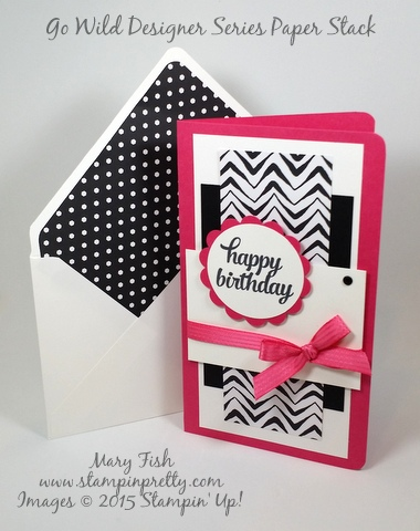 stampin up tin of cards happy birthday card idea stampinup demonstrator mary fish stamping pretty blog tie a pretty bow