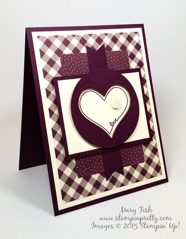 Stampin Up Farmer's Market You're So Sweet Love & Friendship Card Ideas Mary Fish Stampin Pretty Stampinup Demonstrator Blog