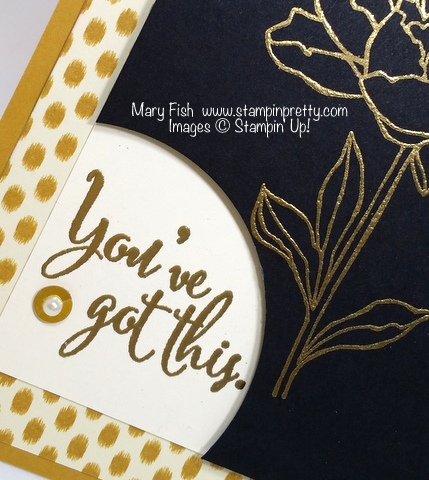 Detail Stampin' Up! You've Got This stamp set sympathy card by Mary Fish Stampin' Pretty