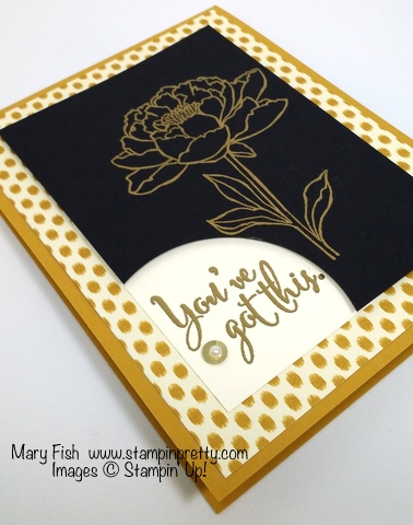 Stampin' Up! You've Got This stamp set sympathy card by Mary Fish Stampin' Pretty angle
