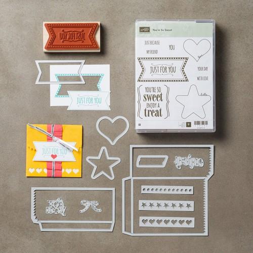 stampin up mini treat bag dies youre so sweet