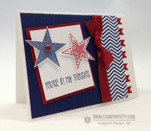 Happy Fourth 4th of July Independence Day Mary Fish Stampin' Pretty Stampin' Up! Demonstrator