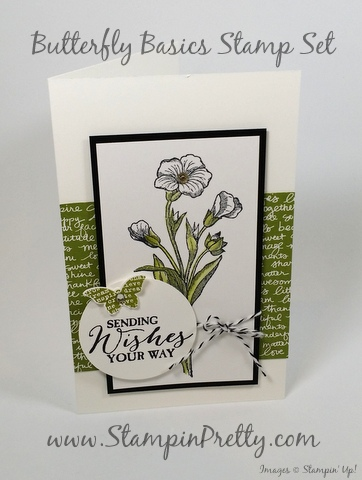 Stampin Up Butterfly Basics card idea by Mary Fish StampinUp Demonstrator blog