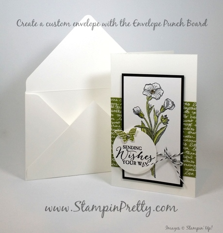 Stampin Up Butterfly Basics card idea envelope punch board by Mary Fish StampinUp Demonstrator Blog